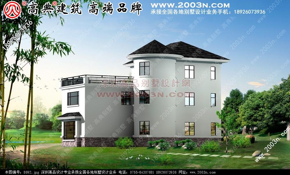 5张简单农村二层和三层楼房效果图