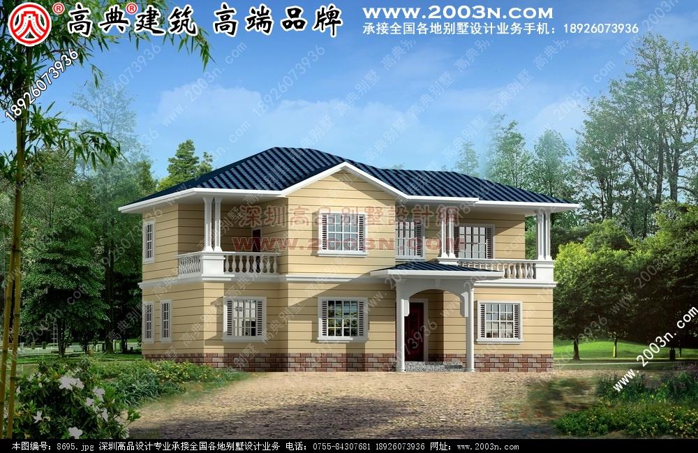 5张简单农村二层和三层楼房效果图别墅设计图 别墅
