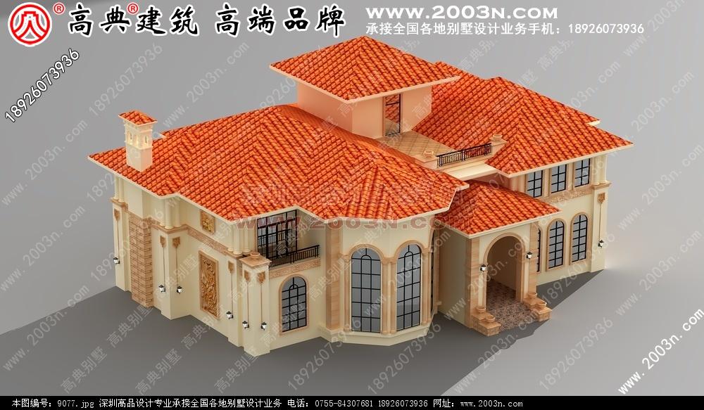 豪华别墅之一16张别墅设计图 别墅图片大全 农村房屋设计图