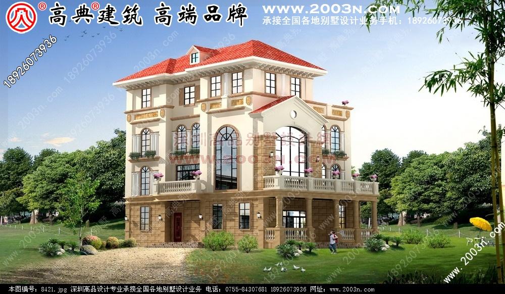 两层半别墅设计图别墅设计图 别墅图片大全 农村房屋设计图 农村房屋