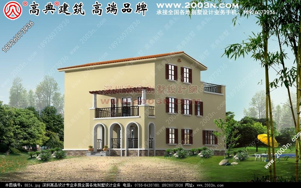 三层别墅外观效果图别墅设计图 别墅图片大全 农村房屋设