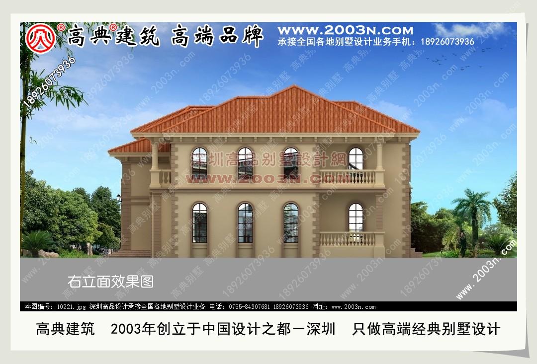 图纸/ 广东90平米别墅设计图 两层半别墅设计图 中式别墅