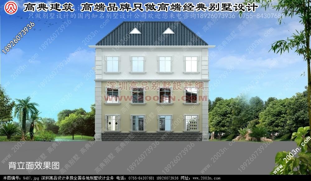 别墅外墙砖效果图别墅设计图 别墅图片大全 农村房屋设计图 100平方高清图片