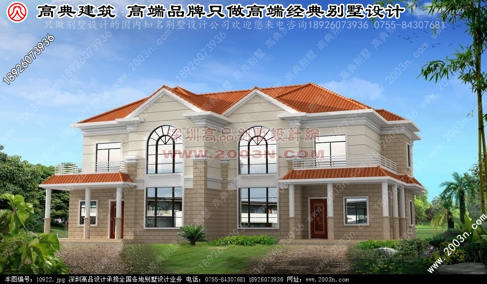 中式别墅建筑效果图别墅设计图 别墅图片大全 农村房屋设